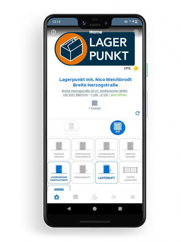 Lagerpunkt NOKE Smart Entry System App